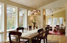 drum pendant lighting over dining table all about house design