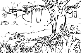 spring landscape coloring pages coloring home