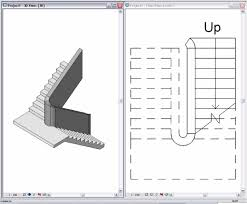 Model Staircase Drawing Elevation And Plan For Staircase Model In