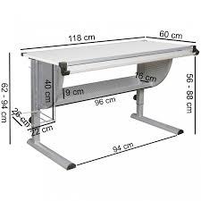 Schreibtisch Weiss 130 Cm Wohnling Design Kinderschreibtisch Maxi Holz 120 X 60 Cm Grau