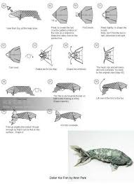 Origami Koi Fish Dollar Bill - dollar bill koi fish origami 83 best origami images