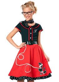Rock Roll Halloween Costumes 50 U0027s Sweetheart Girls Costume Rock Roll Kids Poodle Skirt Costume