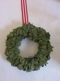 the modern cottage company wool felt wreath