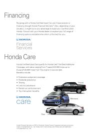 honda car care service plan honda certified used cars information for manassas chantilly grains