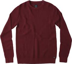 maroon sweater chum knit sweater rvca