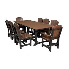 wildridge outdoor heritage 9 piece rectangular outdoor dining set
