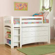 White Wooden Bunk Bed White Wood Bunk Bed With Storage Drawers And Shelves Completed By