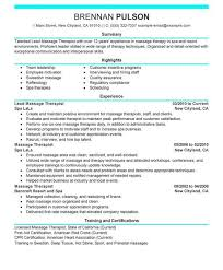 Sample Massage Therapist Resume by Massage Therapy Resume Sample Resume Cover Letter Format