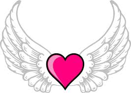Hearts With Wings - wings n pink clip at clker com vector clip
