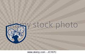 Bicycle Business Cards Illustration Of A Racing Cyclist On His Bike Sweating Stock Photo