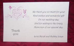 thank you wedding gifts thank you gift cards wedding personalised printed heart butterfly