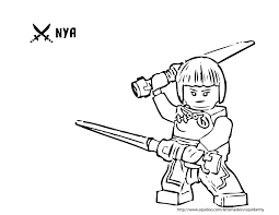 ninjago coloring pages nya kids pinterest birthdays