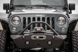 jeep winch bumper ultra series jk front bumper with recessed winch mount with bar u0026 tabs