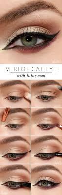 lulu s how to merlot cat eye makeup tutorial at lulus