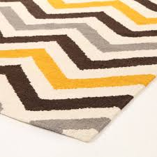 Chevron Runner Rug Furniture Idea Appealing Wool Runner Rugs Giza Yellow Brown