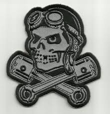 pilot skull with pistons patch usmilitarypatch com