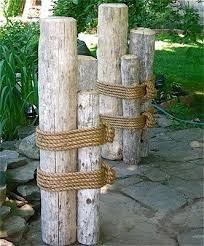 nautical landscaping wood marine pilings nautical coastal decor