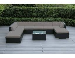 Patio Sectional Beautiful Outdoor Patio Wicker Deep Seating Sofa 9 Pc Set