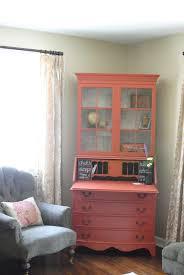 Tall Narrow Secretary Desk by Pink Wooden Secretary Desk With Hutch For Corner Space Decor 728x1088 Jpg