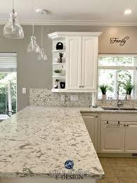 best quartz color for white kitchen cabinets e design an oak cabinet makeover with white dove m