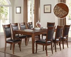espresso dining set belinda by acme furniture ac71695set