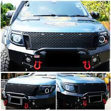 front grill ford ranger ford ranger front grille before facelift with 3 led drl abs