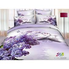 Lilac Bedding Sets St076 Devonshire Collection Lover Swans Lilac Purple Bedding Set