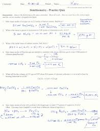 stoichiometry calculations worksheet worksheets