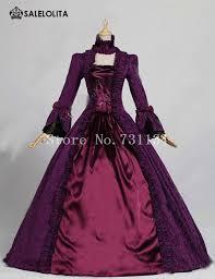 Halloween Ball Gowns Costumes Aliexpress Buy Purple Victorian Dress Gothic Brocade Ball