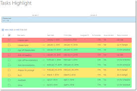 list of color color code sharepoint list rows with csr brightwork