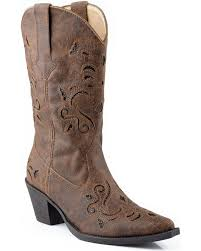 womens brown cowboy boots size 11 s roper boots boot barn