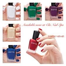 chi nail spa dubai zoya matte velvet collection available at chi