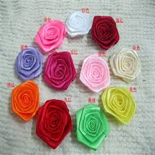 satin ribbon flowers aliexpress buy 6cm dia artificial polyester rosette satin