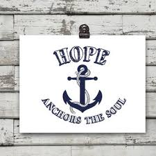 Anchor For The Soul Etsy - hope anchors the soul poster nautical from eeartstudio on etsy