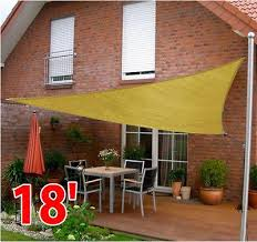 Large Awning 18 U0027 Large Triangle Patio Sun Shade Sail Canopy Pool Outdoor Garden