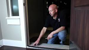 How To Install A Prehung Front Door Home Maintenance How To Adjust A Door Threshold Mov Youtube
