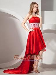pretty graduation dresses high low pretty prom dress with lace decorate waist 136 12