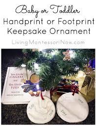 or toddler handprint or footprint keepsake ornament