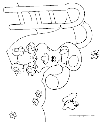 blue u0027s clues color coloring pages kids cartoon
