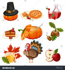 thanksgiving icons pictures set colorful cartoon icons thanksgiving day stock vector 482875699