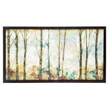 pastel birch trees framed wall decor hobby lobby 996686