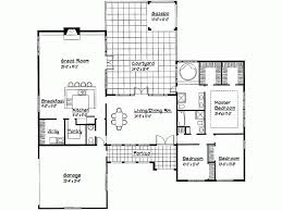 Great Room Floor Plans Single Story Eplans Spanish House Plan One Story Contemporary 2407 Square