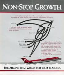 Piedmont Airlines Route Map by New York Air Route Map 1984 Route Map Pinterest Kartat