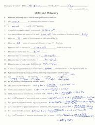 mole ratio worksheet worksheets