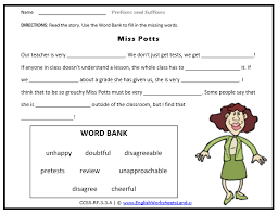 root suffix prefix second 2nd grade skill builders language