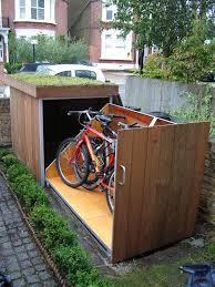 furniture accessories creative wooden outdoor bike garage cool