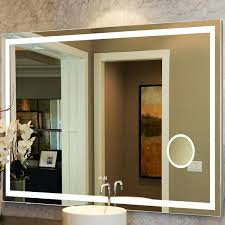 Bathroom Mirror With Clock Wade Logan Electric Mirror With Clock Reviews Wayfair