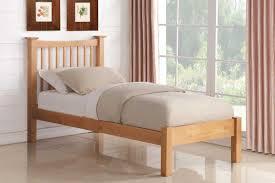 Single Frame Beds Aston Solid Oak Wooden Single Bed Frame Single King