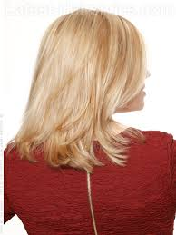 back view of medium styles color dimension straight blonde medium style side view love this
