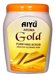 Scrub Gold aiyu herbals gold scrub pack size 850 gm rs 400 id